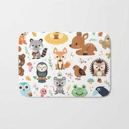 Woodland Animal Bath Mat