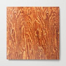 Walnut Wood Metal Print