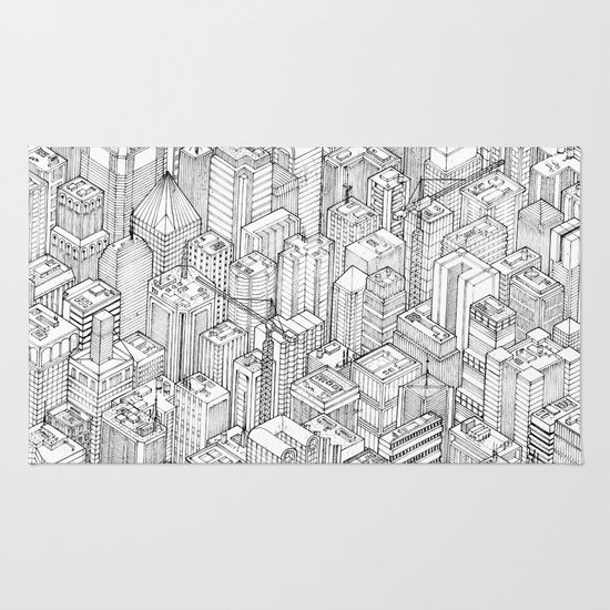 Isometric Urbanism pt.1 Rug