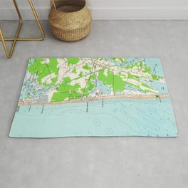 Vintage Map of Bethany Beach Delaware (1954) Rug