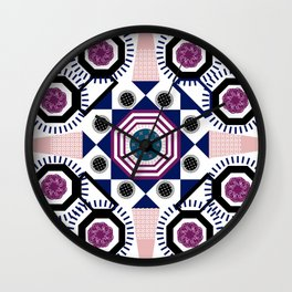 Mixed Emotions Mandala Wall Clock