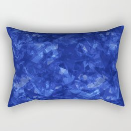 Dark pastel variegated blue stars in the projection. Rectangular Pillow
