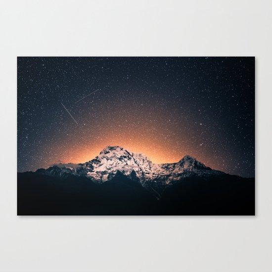 shooting stars over Nepal Canvas Print