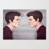 stiles Canvas Prints featuring Stiles by ribkaDory