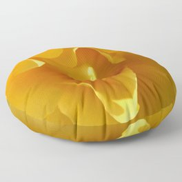 Yellow Rose Ruffles Abstract Floor Pillow