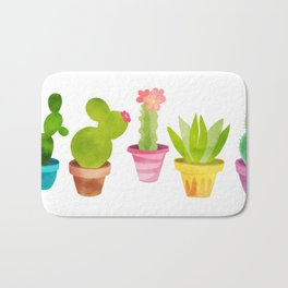 Cactus Plants In Pretty Pots Bath Mat