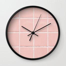 Pink Wall Wall Clock