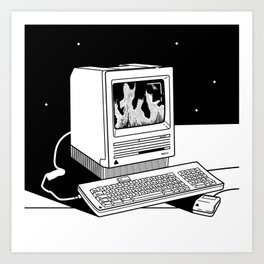 Burning inside Art Print