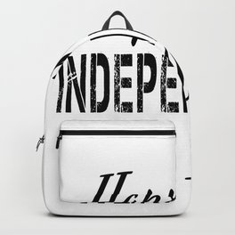 Happy Independence Day (black). Independence Day 4 July Backpack