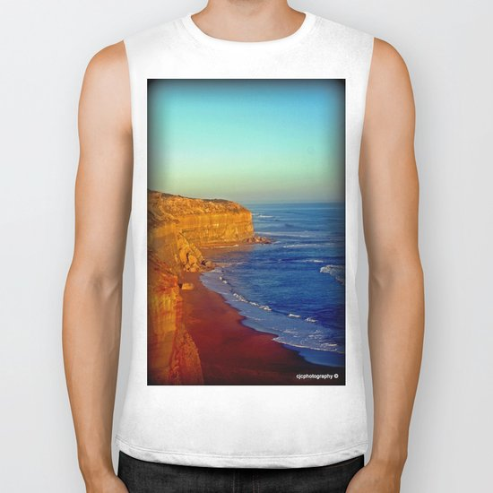 Sunsets on the limestone Cliffs Biker Tank