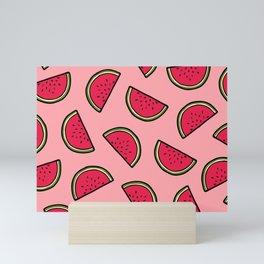 Watermelon Pattern in Pink Mini Art Print