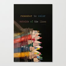 Color outside of the lines Canvas Print