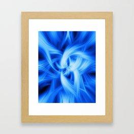 Blue Vortex Framed Art Print