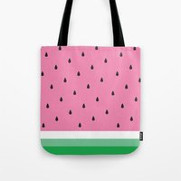 watermelon Tote Bags featuring Watermelon by Anna Lindner