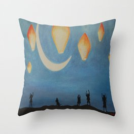 Brujas, Witches Throw Pillow
