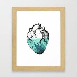 Sinking Heart Framed Art Print