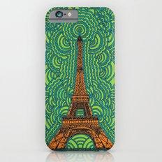 Eiffel Tower Drawing Meditation - orange/green/blue Slim Case iPhone 6s