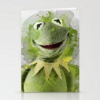 kermit Stationery Cards featuring Kermit by Gaboneto