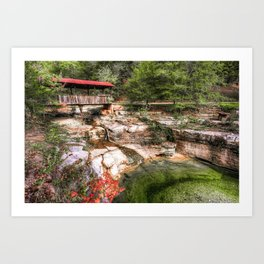 Old Ponca Covered Bridge - Arkansas Ozark Mountains Art Print