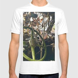 Tree growing in truck cab T-shirt