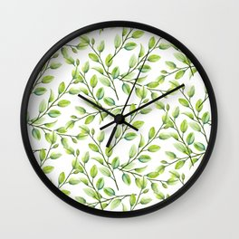 Branches and Leaves Wall Clock