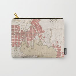 Vintage Map of Baltimore MD (1793) Carry-All Pouch