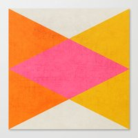 triangles Canvas Prints featuring summer triangles by her art