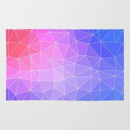 Abstract Colorful Flashy Geometric Triangulate Design Rug