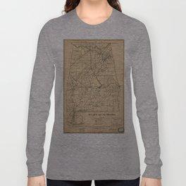 Vintage Map of Alabama (1866) Long Sleeve T-shirt
