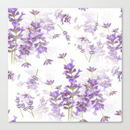 Lavender Bouquets On White Background #decor #society6 #buyart Canvas Print