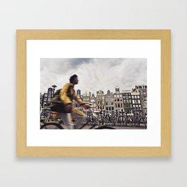 Amsterdam Bicycle Framed Art Print
