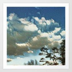 Arkansas Pine & Clouds Art Print