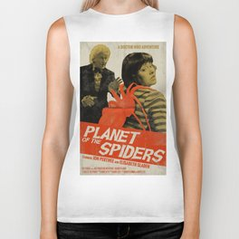 "Doctor Who ""Planet of the Spiders"" Retro Movie Poster Biker Tank"