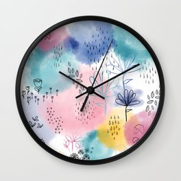 Rain & Shine - by Kara Peters Wall Clock