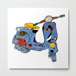 Joan Miró Vespa Scooter,Lyrical, Abstract,Famous painter-Motorcycle Metal Print