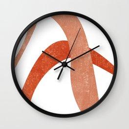 Terracotta Art Print 6 - Terracotta Abstract - Modern, Minimal, Contemporary Print - Burnt Orange Wall Clock