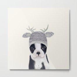 little boston ohh deer Metal Print