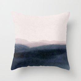 dusk scenery Throw Pillow