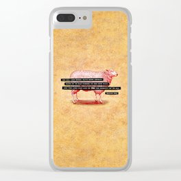 Like Sheep Clear iPhone Case
