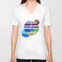 rap V-neck T-shirts featuring Rice Paper Rap by Vikki Salmela