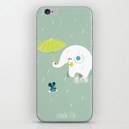 Rainy Elephant iPhone Skin