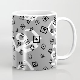 pattern with symbols of photos and videos Coffee Mug