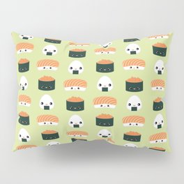 Salmon Dreams in wasabi, large Pillow Sham