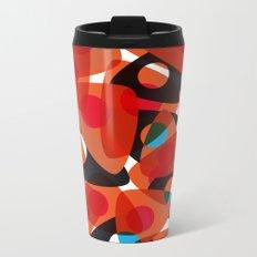 orange 70s Metal Travel Mug