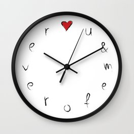 My Clock Says: u & me forever Wall Clock