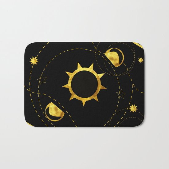 Solar Eclipse black Bath Mat