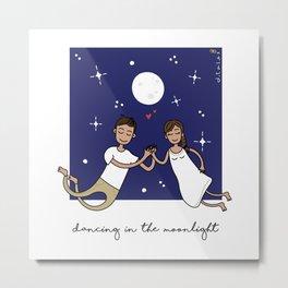 Dancing in the Moonlight Metal Print