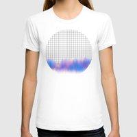 glitch T-shirts featuring Grid glitch by Marta Olga Klara
