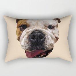 Bulldog low poly. Rectangular Pillow
