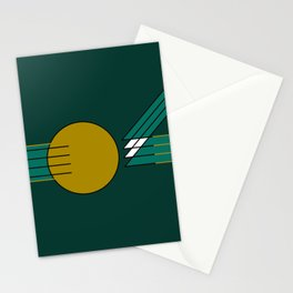 Strokes and circle Stationery Cards